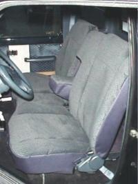 1983 1988 Ford Ranger 60 40 Split Bench Seat With Molded Headrests And Solid Armrest Durafit
