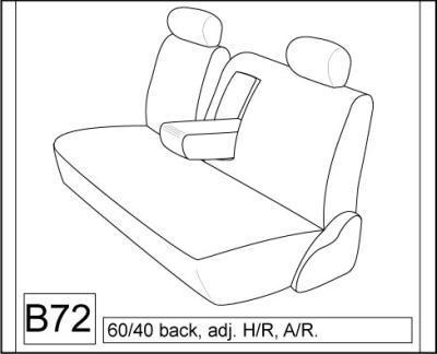2005-2006 Toyota Camry Front and Back Seat Set. Front