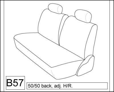 1983-90 Toyota Tercel Wagon Dx Rear Fitted Seat Covers