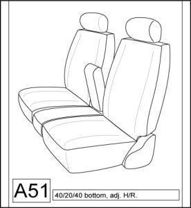 2007-2009 Toyota Tundra 40/20/40 Split Seat without Side