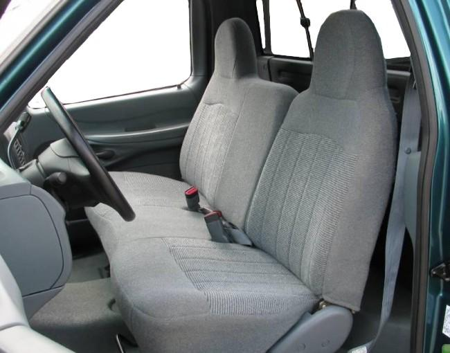 1997 1998 Ford F150 Solid Bottom 40 60 Split Back Seat With Molded Headrests