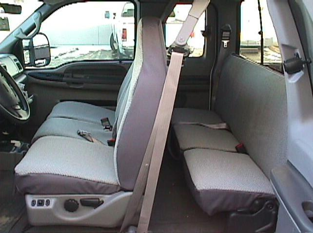 1999 Ford F150 Super Cab Rear Solid Backrest With 40 60