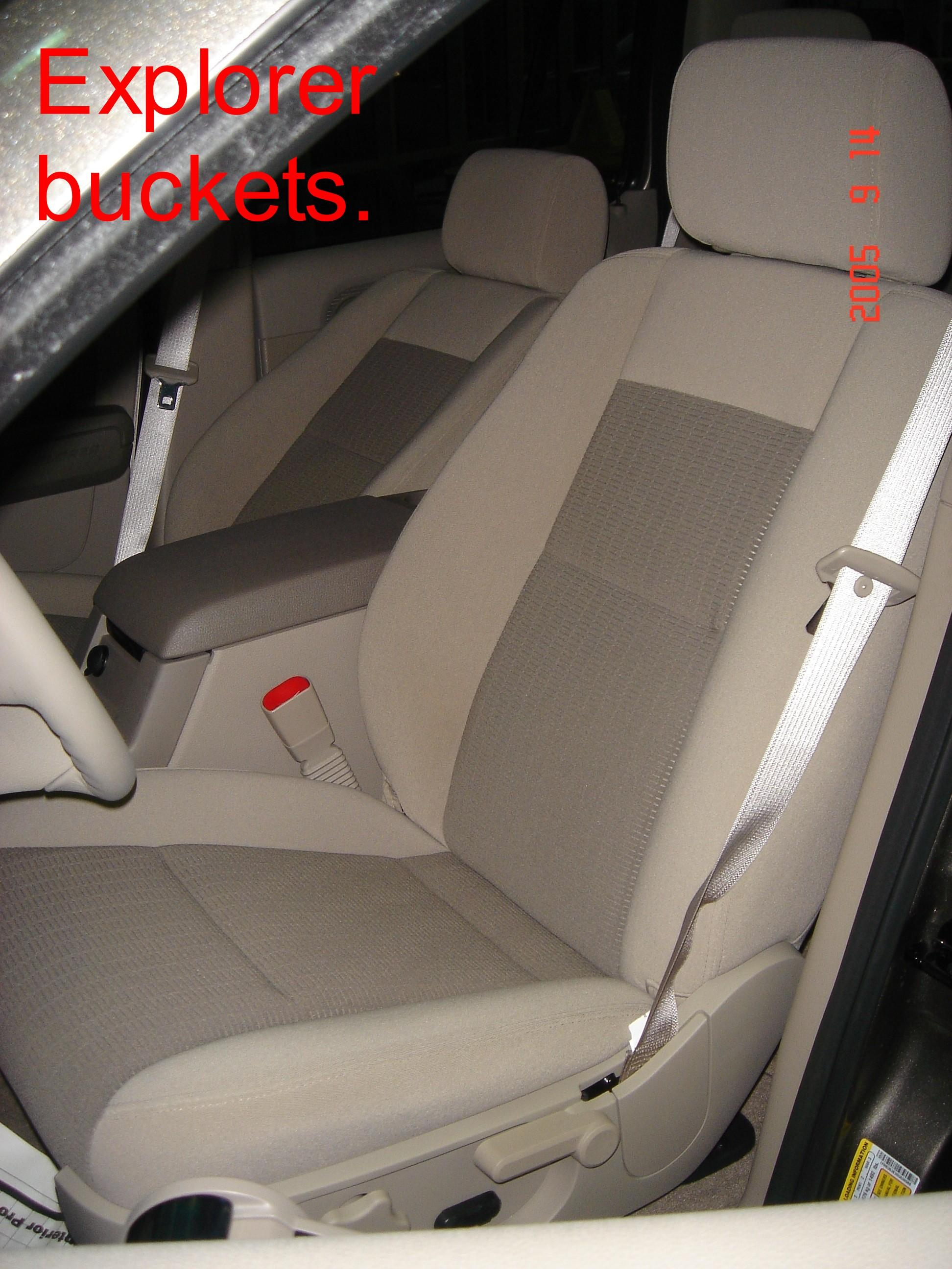 2001 2005 Ford Explorer Low Back Bucket Seats With Adjustable