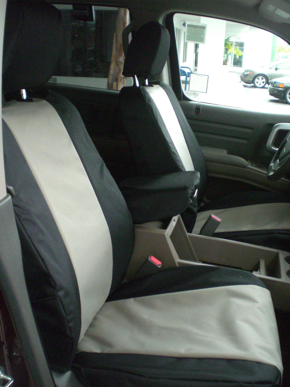 ... 2005 2010 Honda Ridgeline Front Buckets Black And Tan Waterproof Endura  ...