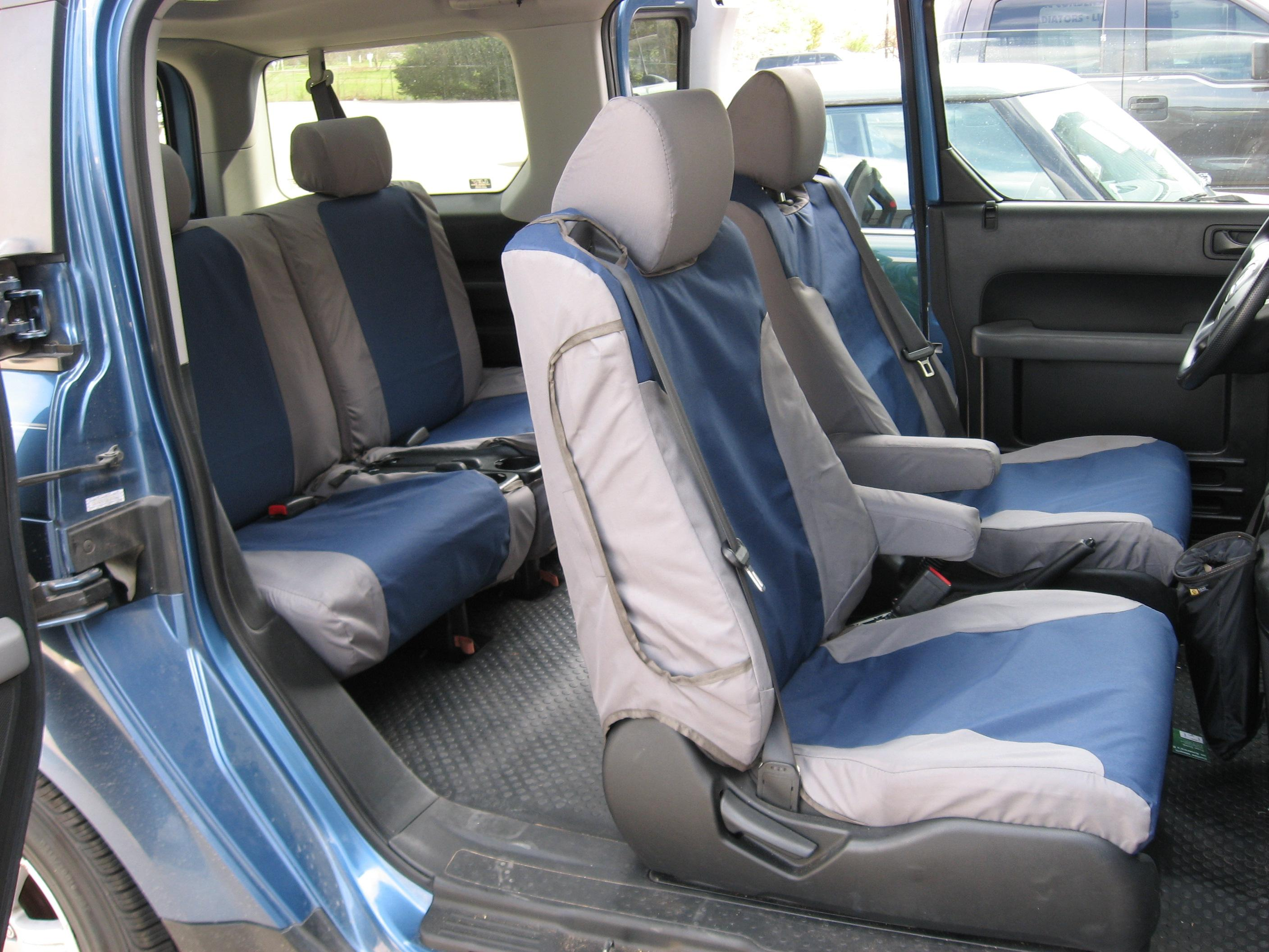 2007 2011 Honda Element Exact Fit Seat Covers For Front And Back Seats